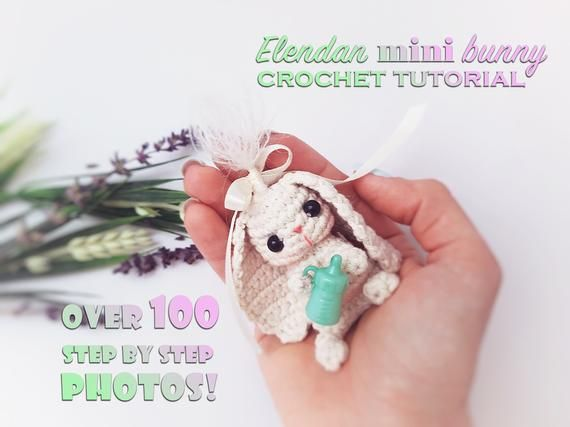 Crochet Big Flappy Ear Bunny Amigurumi Free Pattern | 427x570