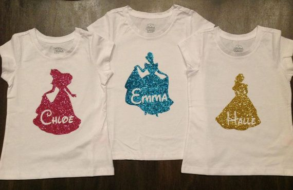 Personalized Princess Shirt for Disney trip by oohlalettersandmore