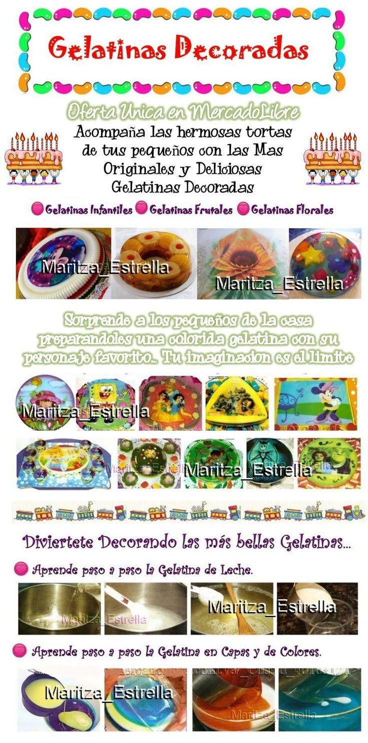 Aprende Gelatinas Decoradas 3d Colores Floral Postre Tortas - Bs. 65,00 en MercadoLibre