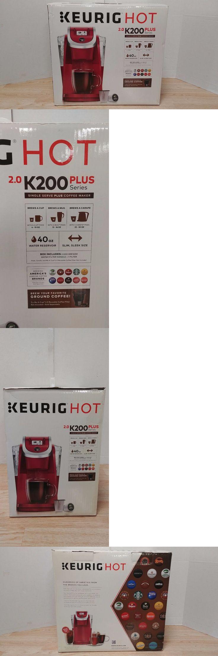 Single Serve Brewers 156775: Keurig Hot 2.0 K200 Plus Series Single Serve Coffee Maker Brewer -> BUY IT NOW ONLY: $84.99 on eBay!