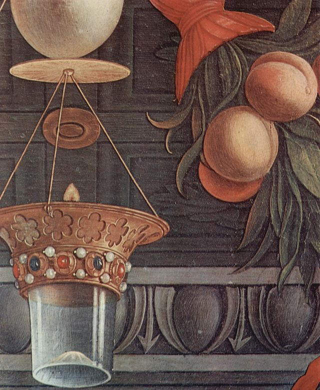 Andrea Mantegna - San Zeno Altarpiece (central panel, detail) - Wikipedia, the free encyclopedia