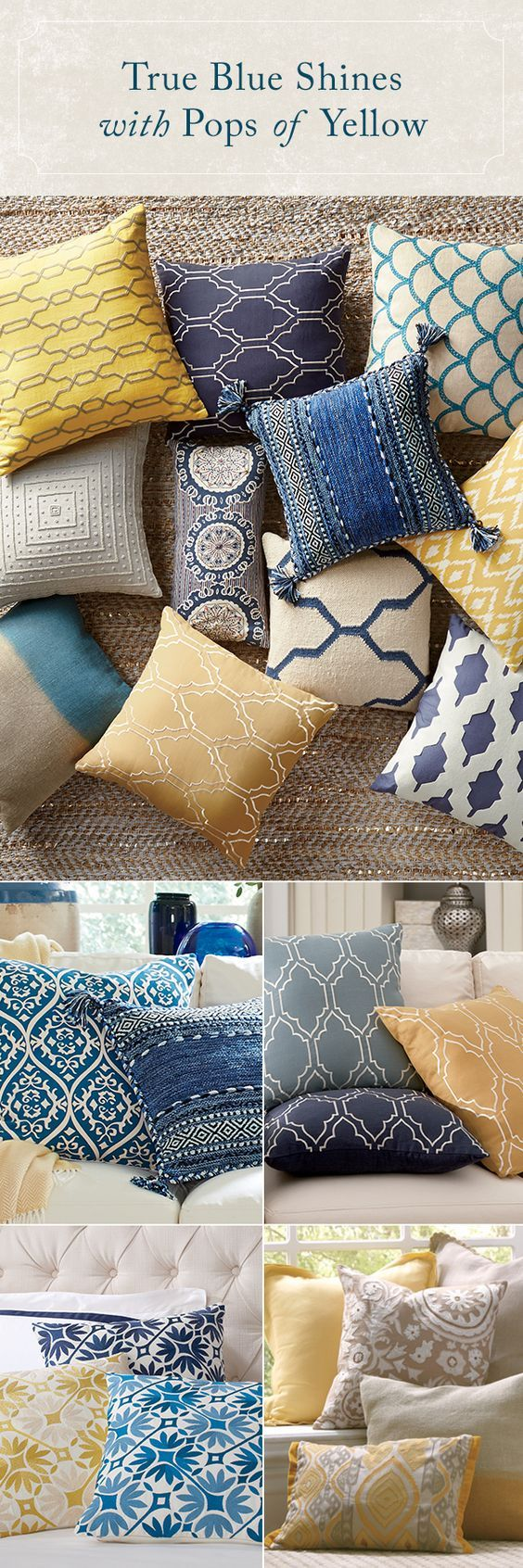 We're pillow lovers, not pillow fighters. There's just something about them that make a bed, sofa, or chair look more finished – not to mention, comfy! With a selection of decorative pillows in all styles, fabrics, and colors, Birch Lane is sure to have that finishing touch you need. Shop now!:
