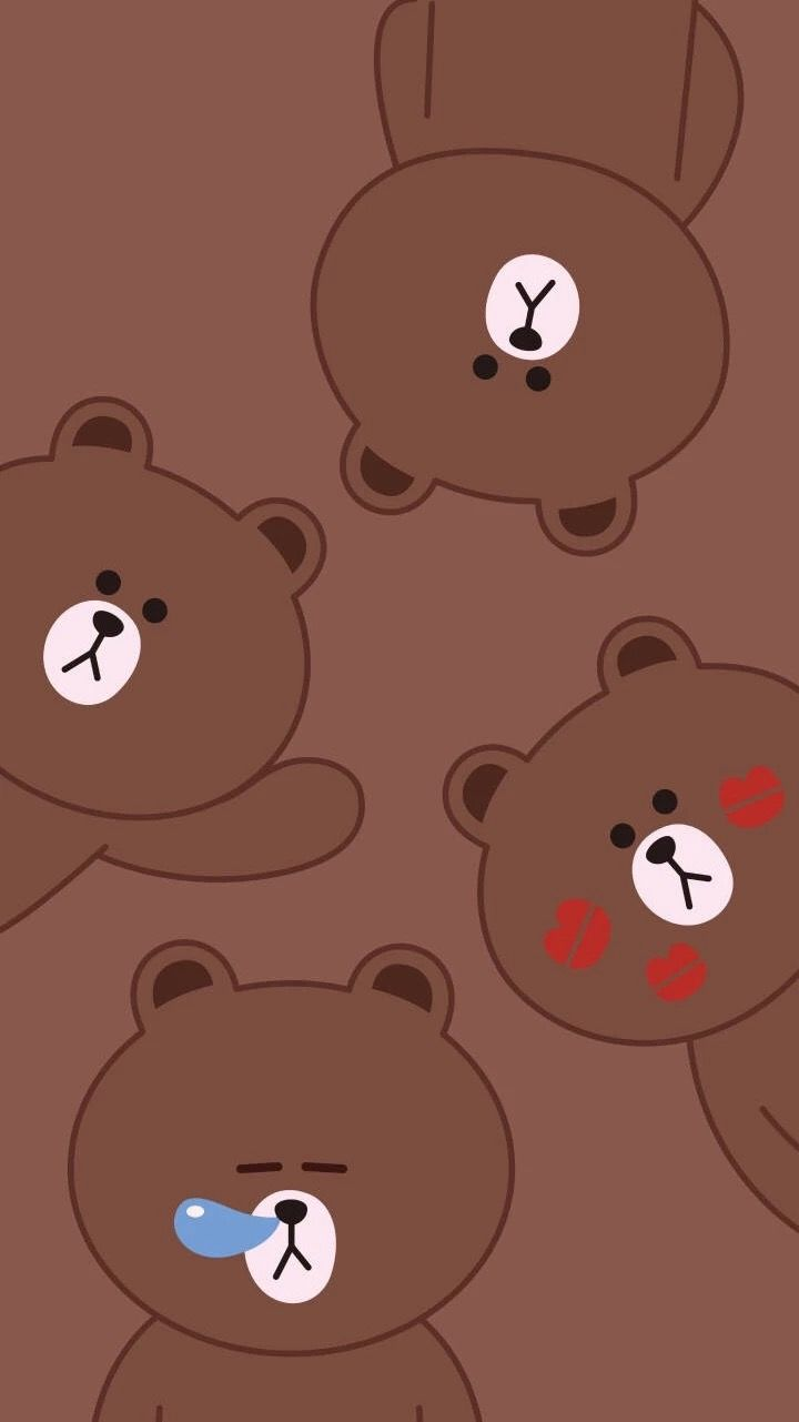 Teddies Follow Rosedoves For More Ilustrasi Karakter Kartun Beruang Coklat