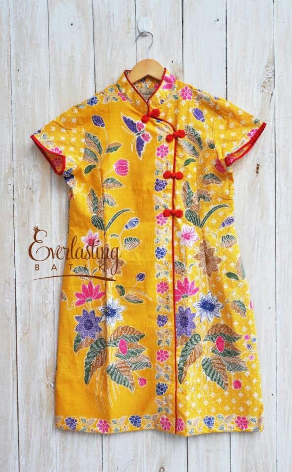 Mix batik with qipao