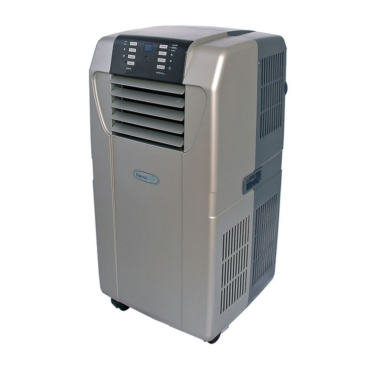 NewAir AC-12000H 12,000 BTU Heat Pump Portable Air Conditioner - silver & black