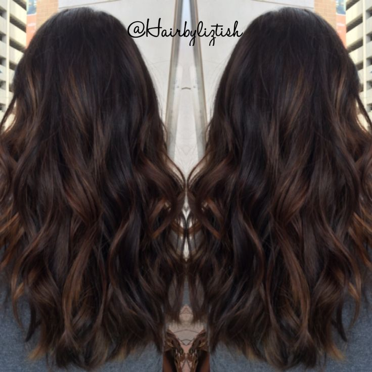 Balayage I painted on my dear friend Becca #balayage #brunette #handpainted…