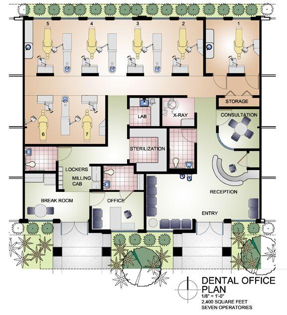 dental office floor plan 2 tenant space 2 400 sf good job