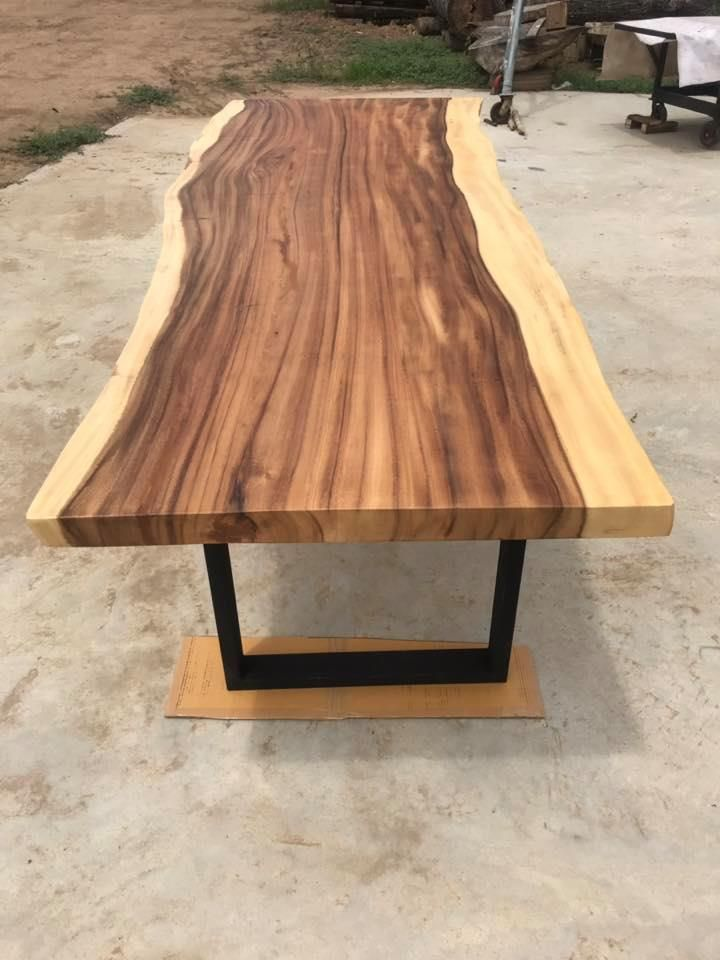 Live Edge Dining Table Live Edge Table Custom Made Live Edge