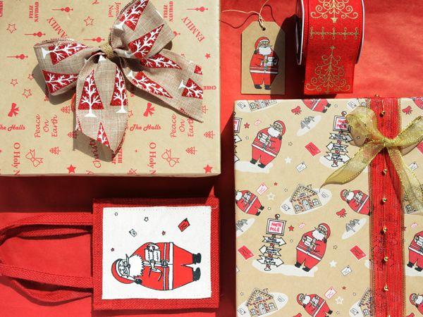 Santa, santa santa santa got broads in Atlanta.  #Barama #Giftpackaging #Packaging #Giftideas #Gifts #Presents #Wrapping #Giftwrapping #Wrappingpaper #Paper #Artsandcraft #Ribbon #Jute #Hessian #Decoration #Christmas #Christmasdecoration #Rustic #Santa #Kraft #Kraftpaper #Brownkraft