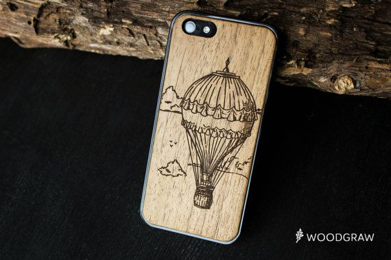 Air Ballon iphone 7 case wood 6 womens gift for wife her gift for women, gift for wife, best gift women, gift ideas, women iphone 7 case