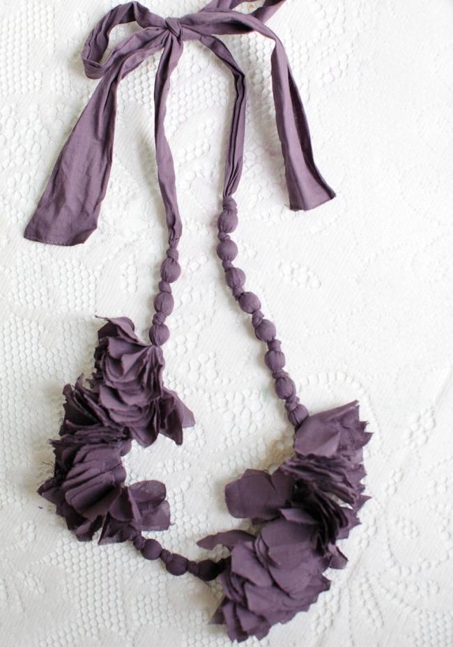"Violet Garland Fabric Necklace 28.99 at shopruche.com. Floral garland necklace in a deep violet fabric. , ,  19"" long (adjustable)Garlands Fabrics, Violets Garlands, Necklaces 998, Deep Violets, Fun Necklaces, Cool Ideas, Fabric Necklace, Fabrics Necklaces, Violets Fabrics"