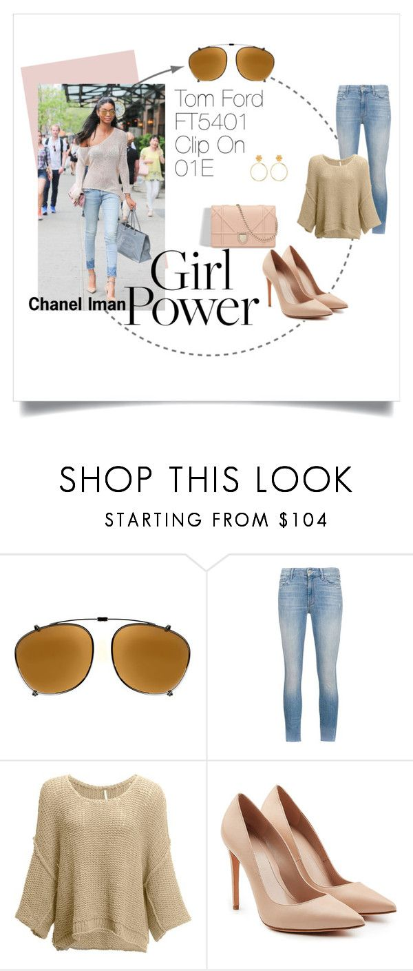 """Chanel Iman: Girl Power"" by visiondirect ❤ liked on Polyvore featuring Tom Ford, Mother, Free People, Alexander McQueen, GetTheLook, sunglasses and CelebrityStyle"