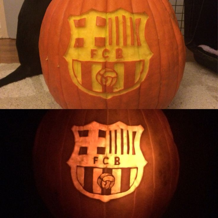 Fc Barcelona Pumpkin Carving Pinterest Wins Pinterest