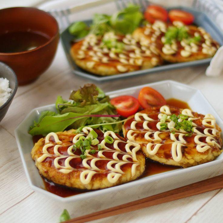 肉なしヘルシー!ふわふわ照りマヨ豆腐ハンバーグ - macaroni