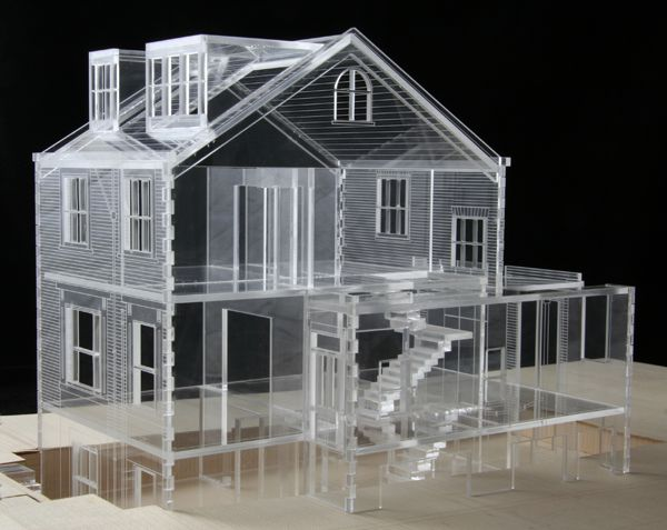 Laser cut perspex concept model made by hidden london for 3d house model maker