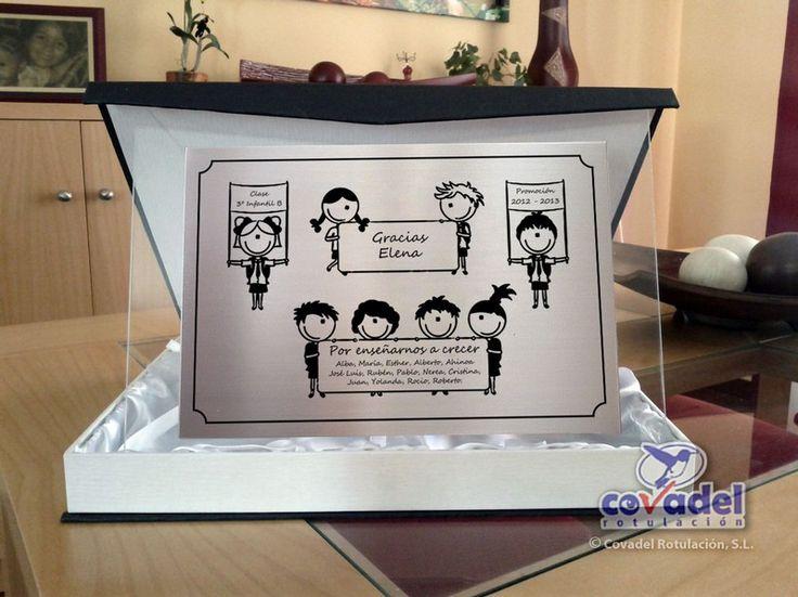Placa Conmemorativa Acero Inox. - Profesora Infantil