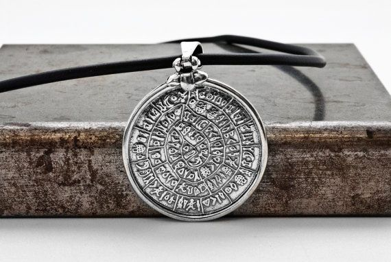 Phaistos Disc Greek Necklace Ancient Minoan Cretan by GreekMythos