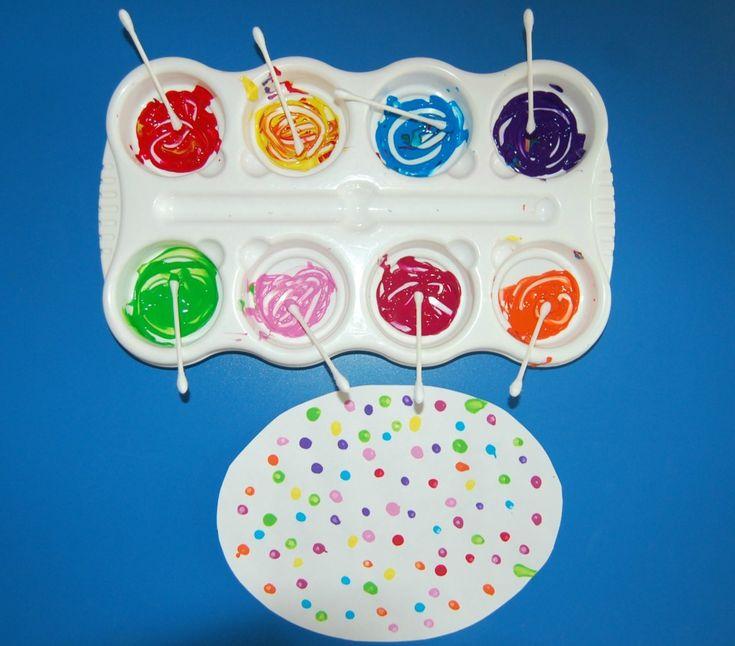 Art Project for Kids - Polka Dot Easter Egg