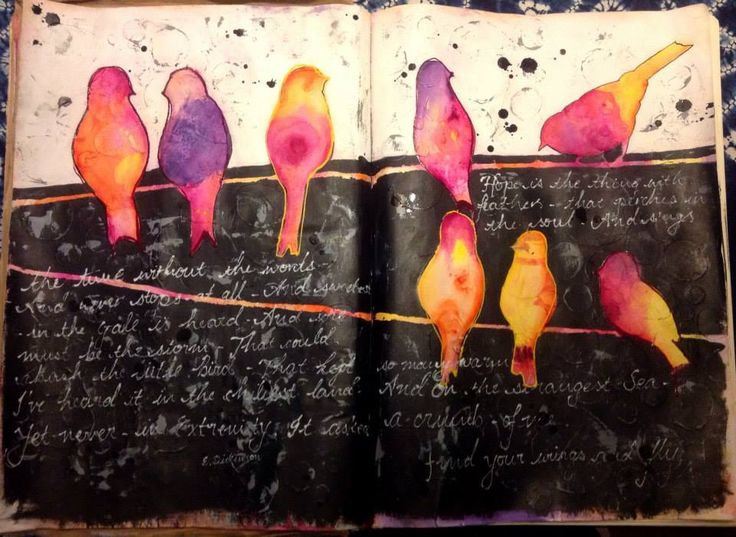 Color splashed on black and journaling in white ink wow art journal pagesjournal