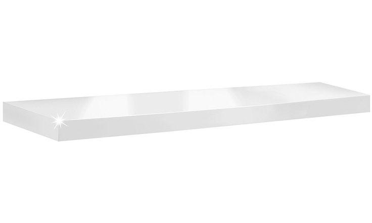 Wandboard / Wandregal Boy | 9 Größen | 6 Dekore | 1.150x250x50 mm - weiß hochglanz: Amazon.de: Küche & Haushalt