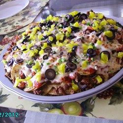 Italian Nachos Restaurant-Style - we've used leftover Italian pork instead of the sausage...yummers!!!