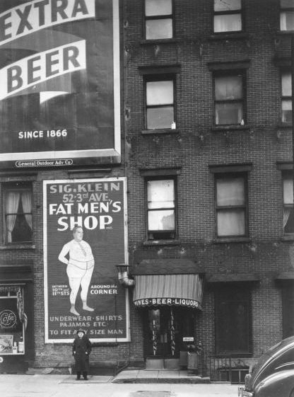 Fat Men's Shop, The Bowery, New York City   1946