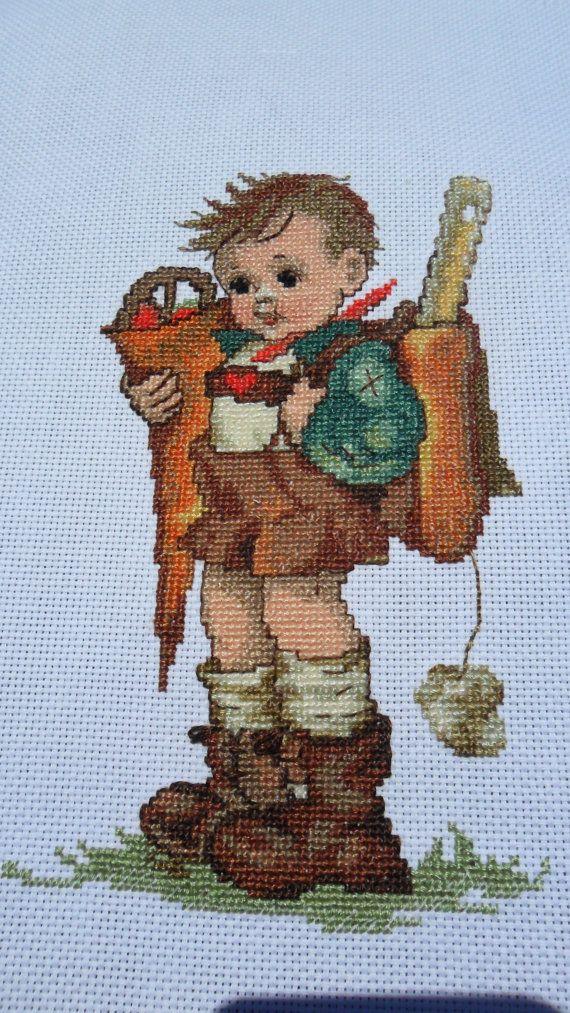 Hummel Art Little Scholar Boy cross stitch design - View 4 of 4