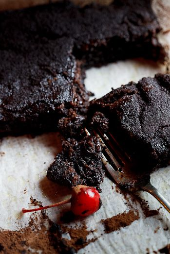 Chocolate Brownies with Cherries soaked in Balsamic Vinegar.  This recipe calls for boxed brownies but the balsamic vinegar soaked cherries sound amazing.  I would soak them in chocolate balsamic vinegar or even the chocolate raspberry balsamic.