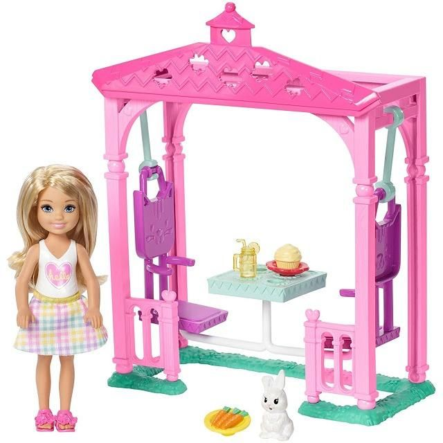 Barbie Doll Play Set Swingset Club Chelsea Girls Toy Play Park
