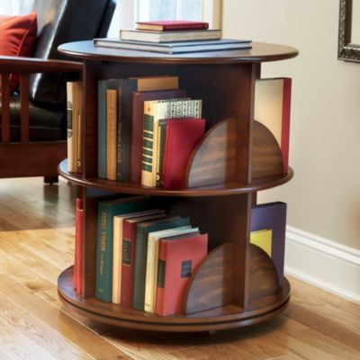 swivel bookmedia stand storage for small spaces