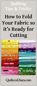 How to Fold Your Fabric for Cutting: Quilting Tips and Tricks-video