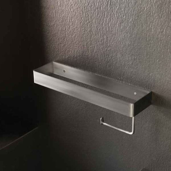 Accessori Bagno Oml.Porta Salvietta E Portarotolo In Acciaio Inox Satinato Piana