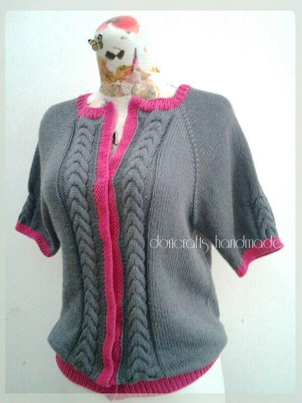 Knitted pullover. Made from Indonesia cashmilon yarn...soft and suitable for tropical area