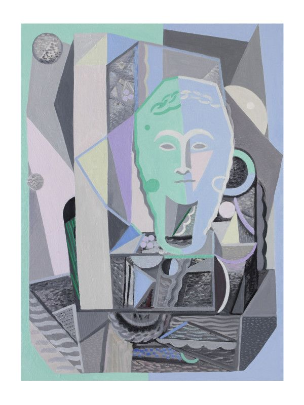 'Sculpted Head' by Yvette Coppersmith, oil on linen, 84cm x 62cm, 2015.