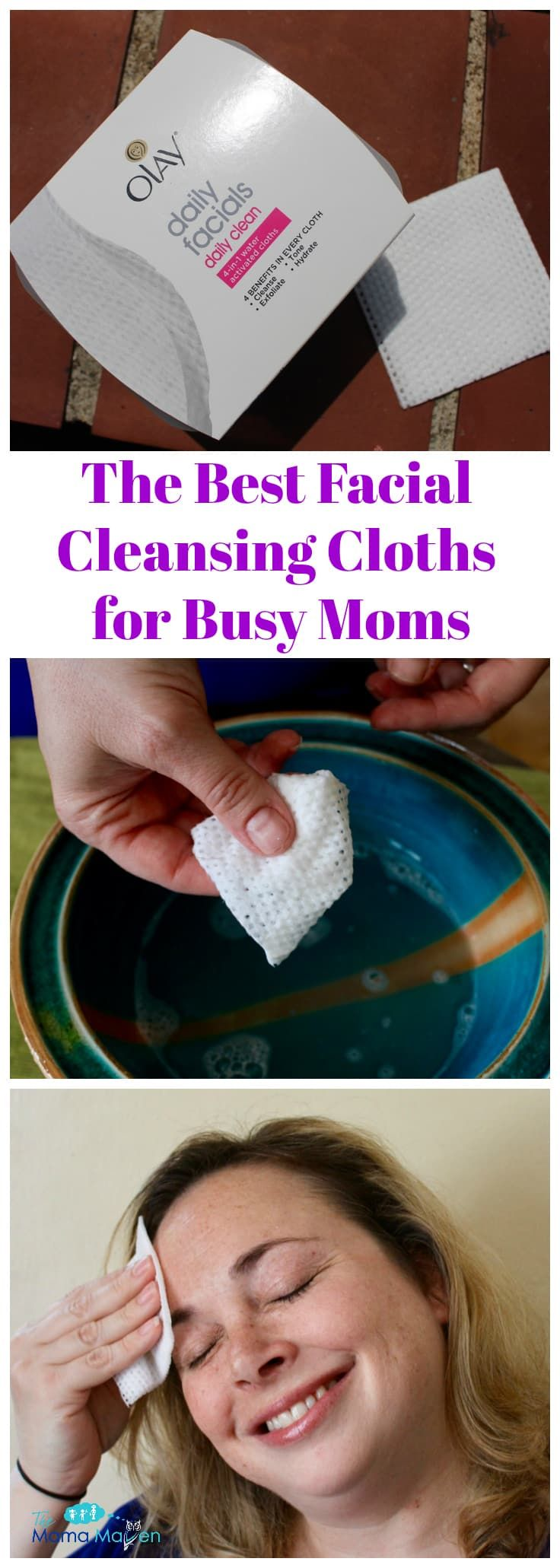 The Best Facial Cleansing Cloths For Busy Moms #AD @olay | The Mama Maven Blog