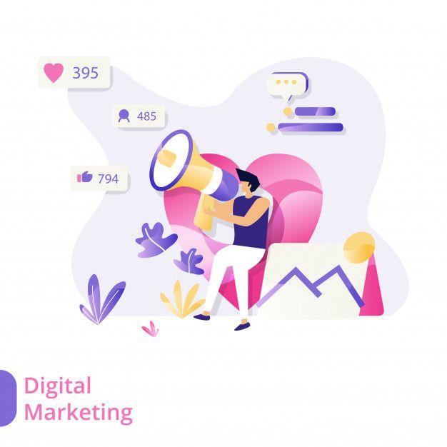 landing page digital marketing vector illustration concept men sitting and using microphones in 2020 digital marketing business vector illustration marketing concept landing page digital marketing vector