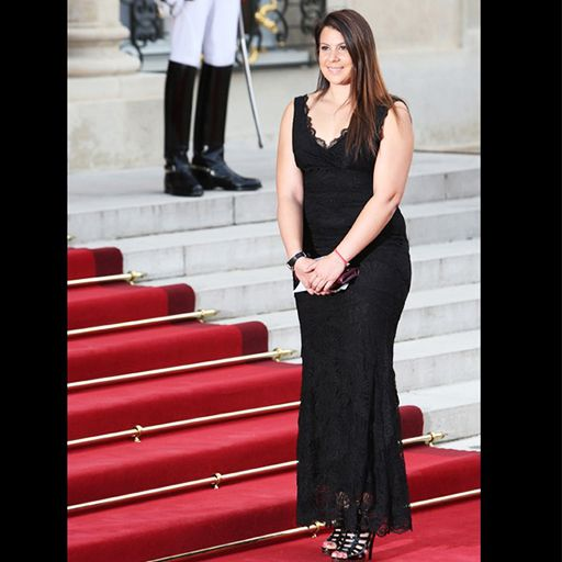 marion bartoli, red carpet, elysee, nicole miller, gown, black dress, paris, my couture corner, lnhagency