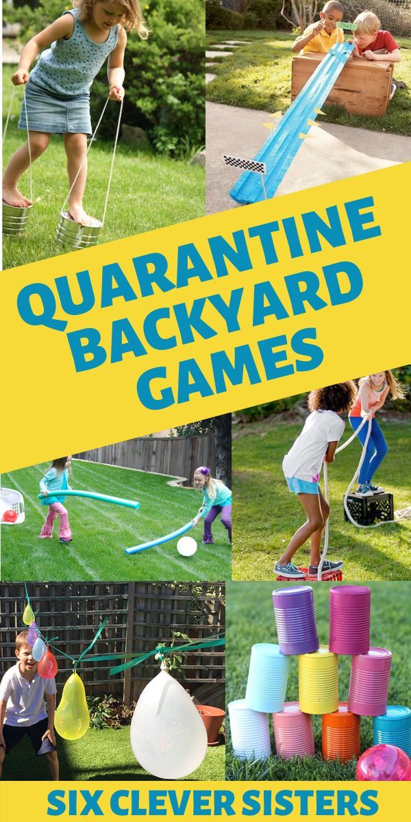 20 Backyard Activities For Kids Six Clever Sisters In 2020 Outside Games For Kids Fun Outdoor Activities Backyard Games Kids
