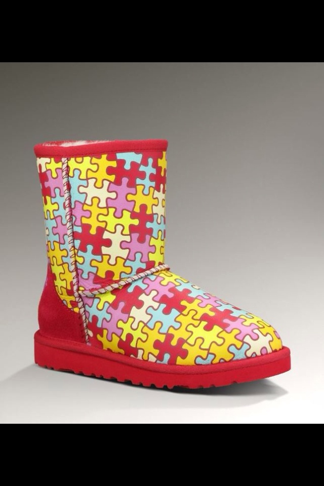 #Autism Uggs...ugliest things ever yet so cool!