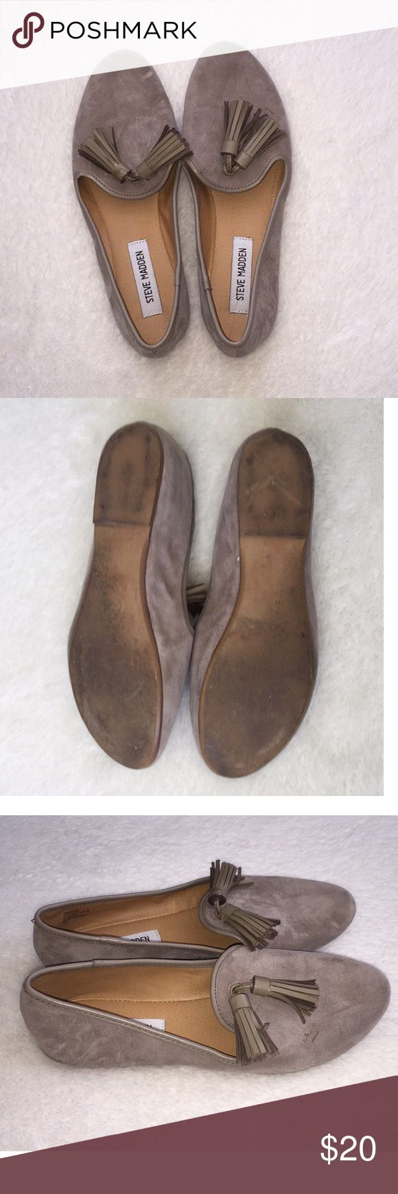 🆕 Steve Madden Flats with tassel Steve Madden Flats with tassel- Color Gray, used a couple of times, in excellent condition. Fits true to size. Steve Madden Shoes Flats & Loafers