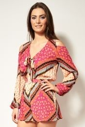 Mink Pink African Trance Playsuit