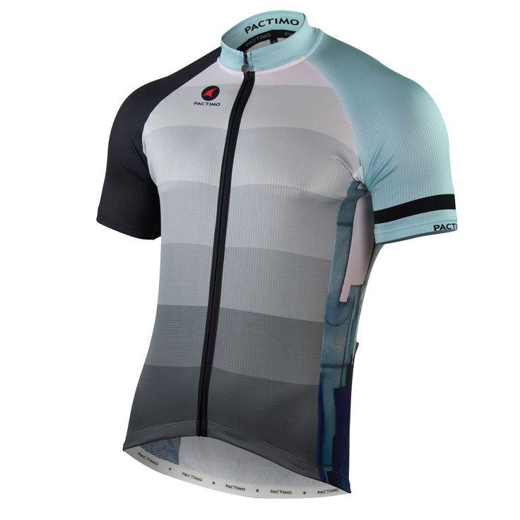 """Cold City"" Designer Cycling Jersey For Men By Leif Kruse $95.00"