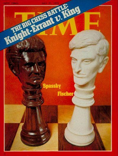Boris Spassky and Bobby Fischer | July 31, 1972 Chess match between Russian Boris Spassky and American Bobby Fischer