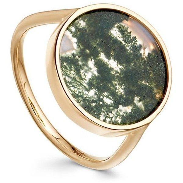 Moss Agate Venus Ring (3,295 MYR) ❤ liked on Polyvore featuring jewelry, rings, agate ring and agate jewelry
