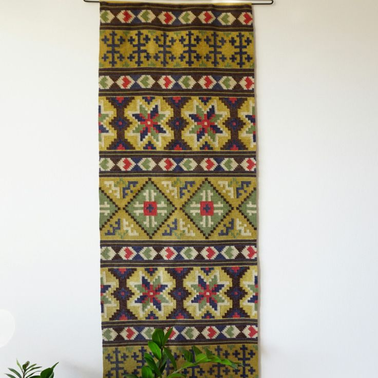 Swedish antique hand woven tapestry