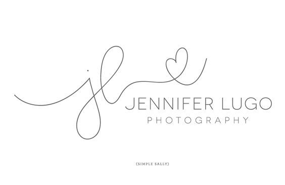 Hand written initials logos for photographers | JL is for Jennifer Lugo | Simple Sally