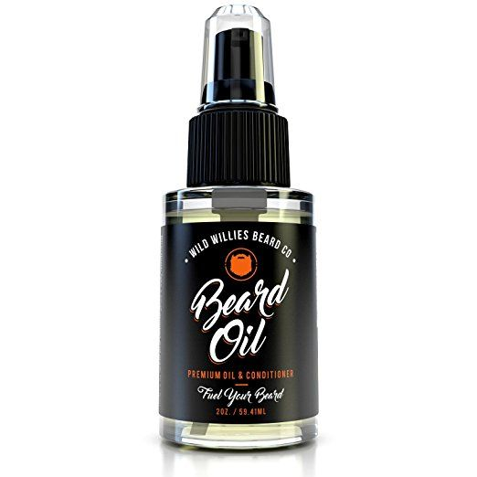 """Wild Willie's Liquid Gold Beard Oil - The Only Beard Oil """"Nut Free"""" Made with 10 Natural Organic Ingredients to Condition and Treat Your Beard At the Same Time to Promote A Fast Growing, Healthy, and Studly Beard. HUGE 2oz Bottle!! Made By Hand in the USA."""