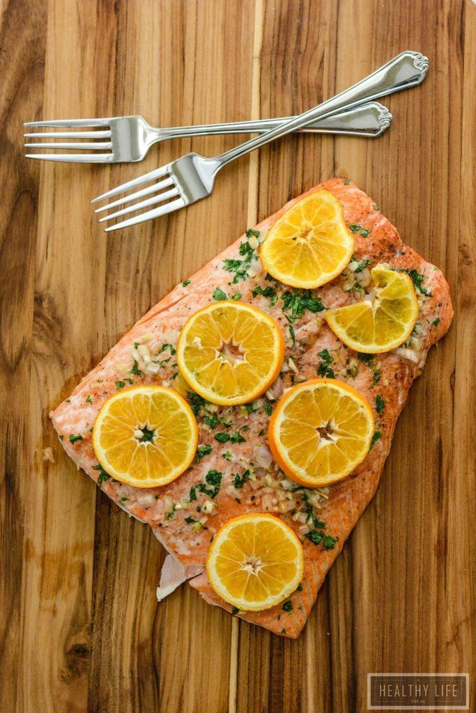 Roasted Salmon and Clementine Gluten Free Paleo High Protein dinner recipe | Paleo Recipe | Gluten Free Recipe | Healthy Recipe | Family Friendly Recipe | Weeknight Dinner Recipe | Salmon Recipe