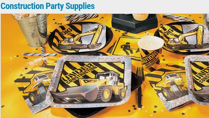 Construction Party Supplies - Oriental Trading http://fave.co/2ccidKD