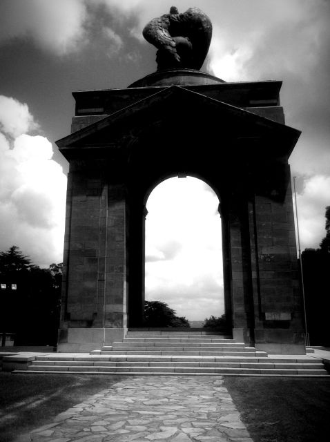 Shot this in Saxonwold, it's a memorial statue for a South African War.